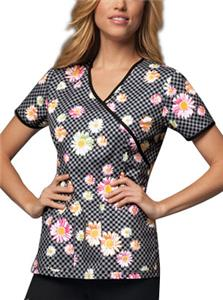 Cherokee Runway Womens Mock Wrap Scrub Top