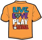Tandem Sport Volley by the Sea Volleyball T-Shirt