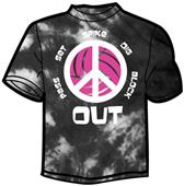 Tandem Sport Peace Out Tie Dye Volleyball T-Shirt