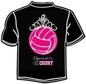 Tandem Sport Queen of the Court Volleyball T-Shirt