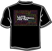 Tandem Sport For the Thrills Volleyball T-Shirt
