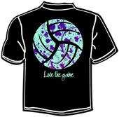 Tandem Sport Love the Game Volleyball T-Shirt