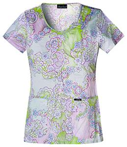 Cherokee Runway Womens Scoop Neck Tunic Scrub Top
