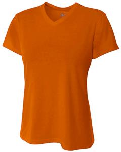 A4 Womens Short Sleeve Fusion V-Neck T-Shirt