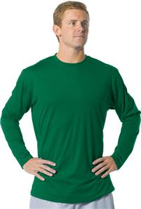 A4 Fusion Cotton Long Sleeve Crew Shirt