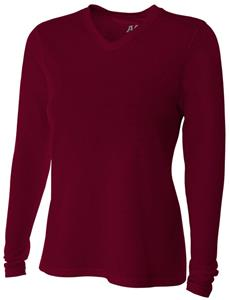 A4 Women's Long Sleeve Fusion V-Neck T-Shirts