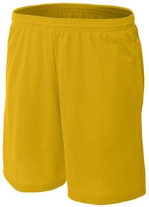 "A4 Adult 9"" Textured Mesh Shorts with Side Pockets"