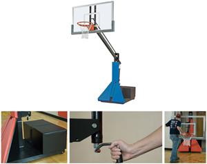 Bison Max Acrylic Portable/Adj. Basketball Systems