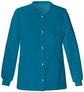 Cherokee Luxe Button Front Warm-Up Scrub Jacket
