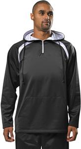 A4 Adult Polyester 1/4 Zip Hoodies - Closeout