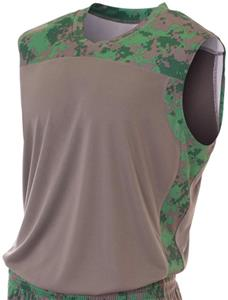 A4 Printed Camo Performance Muscle Jersey