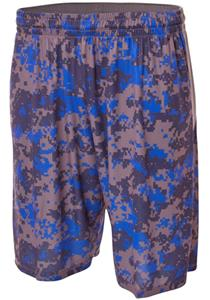 A4 10&quot; Printed Camo Performance Shorts