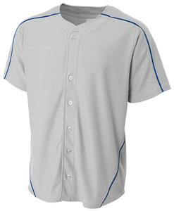 A4 Warp Knit Full Button Baseball Jersey