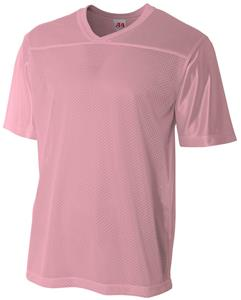 A4 Youth Pink Fan Football Jersey