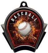 Hasty Awards Inferno Baseball Black Finish Medals