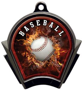 Hasty Awards Inferno Baseball Black Finish Medals
