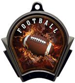 Hasty Awards Inferno Football Black Finish Medals