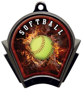 Hasty Awards Inferno Softball Black Finish Medals