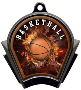 Hasty Awards Inferno Basketball Black Finish Medal
