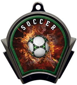 Hasty Awards Inferno Soccer Black Finish Medals