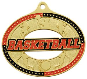 Hasty Awards Classic Basketball Medals M-740B