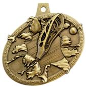 Hasty Awards Bust Out Lacrosse Medal M-755LC