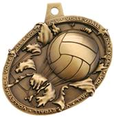 Hasty Awards Bust Out 3D Volleyball Medal M-755V