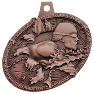 Hasty Awards Bust Out 3D Swimming Medal M-755W