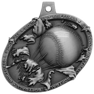 Hasty Awards Bust Out 3D Softball Medal M-755O