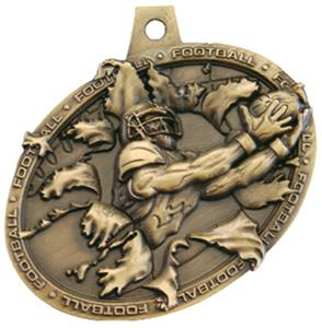 Hasty Awards Bust Out 3D Football Medal M-755F