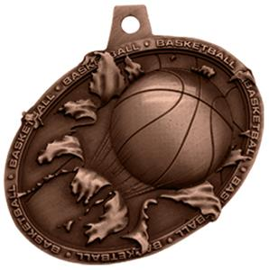 Hasty Awards Bust Out 3D Basketball Medal M-755B