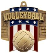 Hasty Awards Patriot Volleyball Medal M-776V
