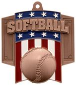 Hasty Awards Patriot Softball Medal M-776O