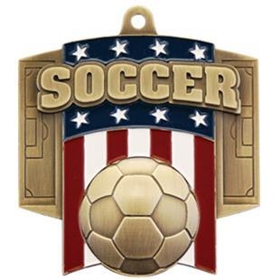 Hasty Awards Patriot Soccer Medal M-776S