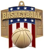 Hasty Awards Patriot Basketball Medal M-776B