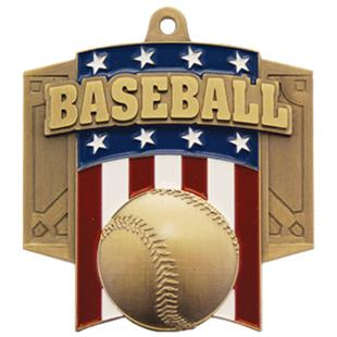 Hasty Awards Patriot Baseball Medal M-776C