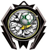 Hasty Awards Stealth Soccer Bust-Out Medal M-5200S