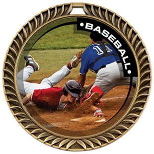 Hasty Awards Crest Baseball Medal P.R.2 M-8650C