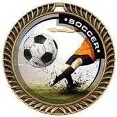 Hasty Awards Crest Soccer Medal P.R.Male M-8650S