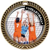 Hasty Awards Crest Volleyball Medal P.R.2 M-8650V