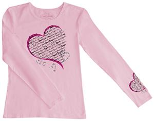 Cherokee Workwear Long Sleeve Crew Neck Heart Tee