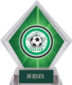 All-Star Soccer Green Diamond Ice Trophy