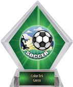 HD Soccer Green Diamond Ice Trophy