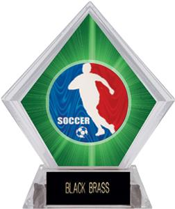 Spirit Soccer Green Diamond Ice Trophy