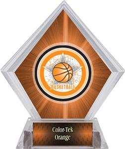 All-Star Basketball Orange Diamond Ice Trophy