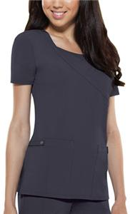 Dickies Women's Junior Fit Mock Wrap Scrub Tops