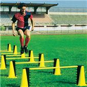 GRADUATED TRAINING HURDLES (14 cones /7 Rods) GR7