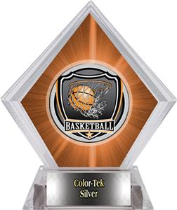 Shield Basketball Orange Diamond Ice Trophy