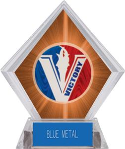 Spirit Victory Basketball Orange Diamond Trophy