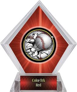 Bust-Out Baseball Red Diamond Ice Trophy Plate
